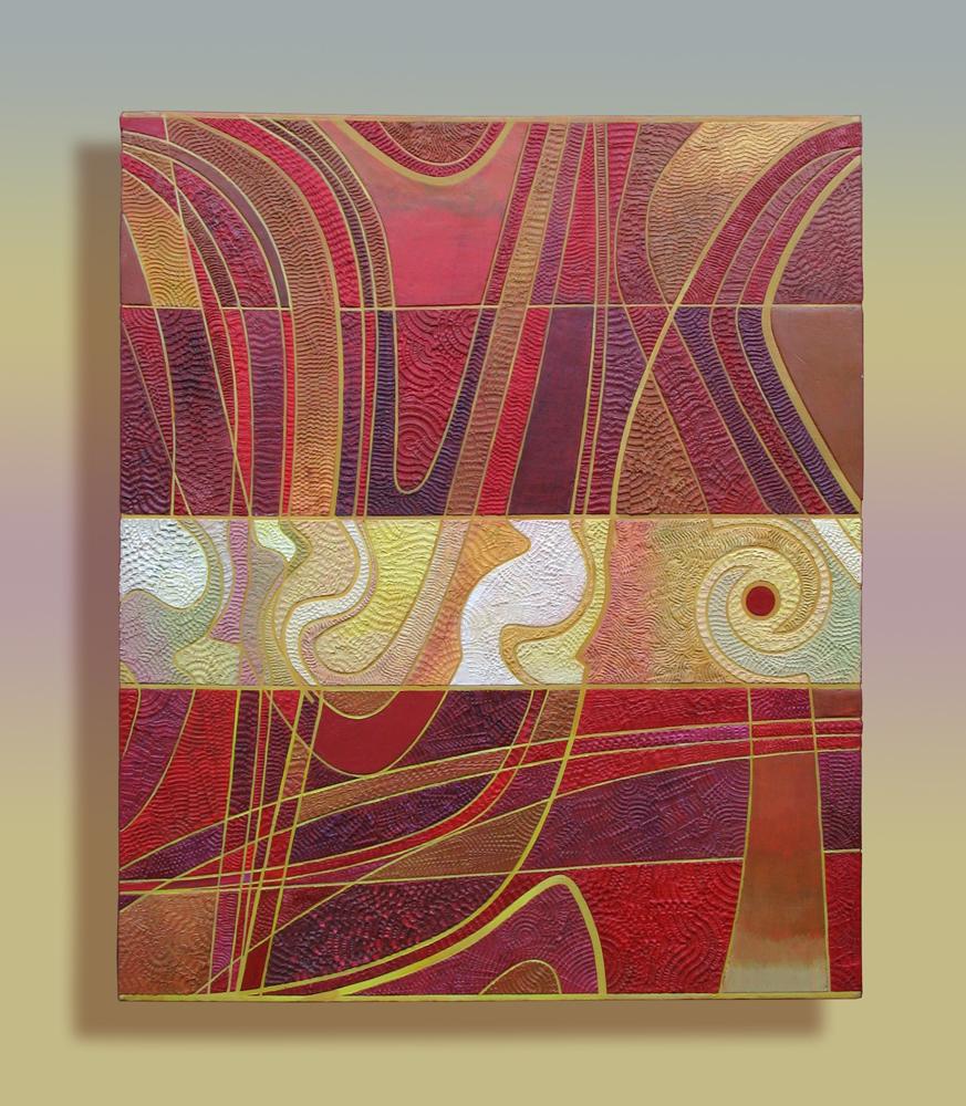 "Boundary Layers and Turbulence #1 20""X24"" Acrylic on Canvas"