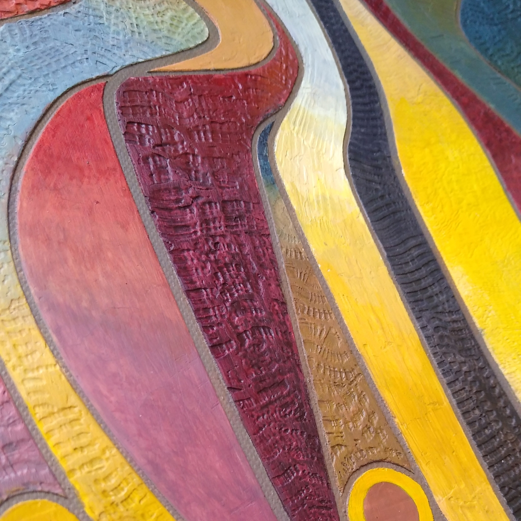 Isadore Michas  Vivid topography #2 detail view